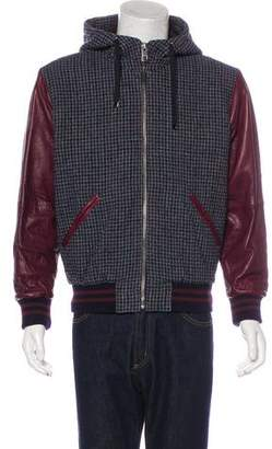 Dolce & Gabbana Plaid Leather-Trimmed Jacket