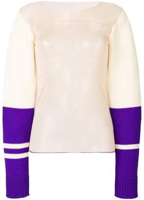 Calvin Klein sheer colourblock pullover