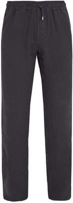 Altea Elasticated-waist linen trousers