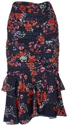 Keepsake Need You Now Floral-print Chiffon Midi Skirt