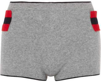 Madeleine Thompson Achrady Striped Cashmere Shorts - Gray