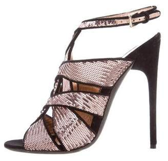 Tom Ford Sequined Caged Sandals latest collections cheap online sale low cost pre order sast sale online clearance high quality 8Uj9CcSwV5