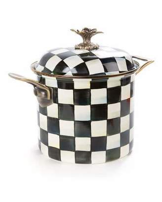 Mackenzie Childs MacKenzie-Childs Courtly Check Enamel 7-Quart Stock Pot