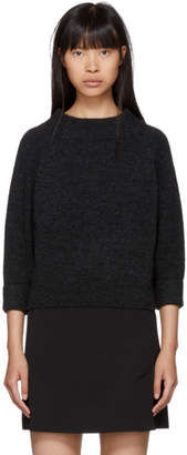 3.1 Phillip Lim Grey Lofty Mock Neck Sweater