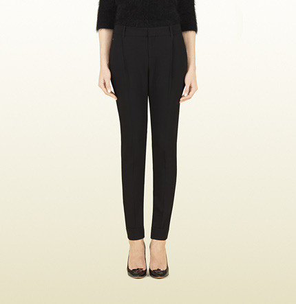 Gucci Black Stretch Wool Holiday Pant