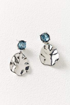 Urban Outfitters Rox Crystal Stud Hammered Drop Statement Earring