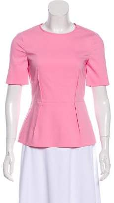 Tibi Dart-Accented Short Sleeve Top