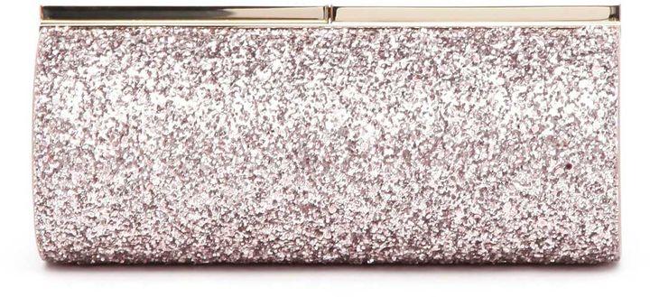Jimmy ChooJimmy Choo 'trinket' Metallic Coarse Glitter Fabric Clutch