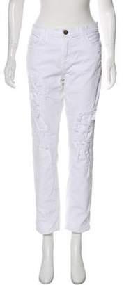 Current/Elliott Mid-Rise Distressed Jeans