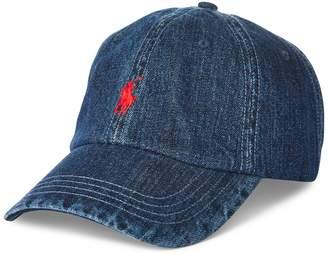 Polo Ralph Lauren Logo Denim Baseball Cap