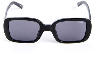 Quay 20as Square Black Plastic Sunglasses