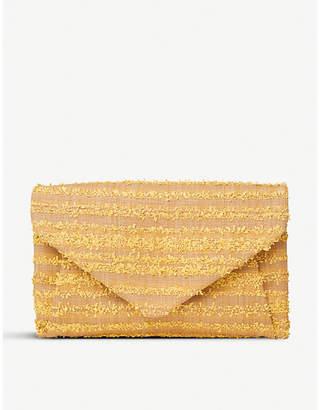 LK Bennett Lorna raffia envelope clutch bag