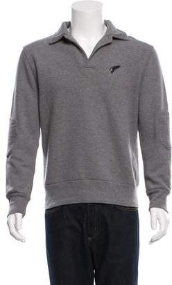 Michael Bastian Embroidered Fleece Sweatshirt