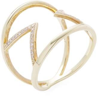 Meira T Women's 14K Yellow Gold & 0.12 Total Ct. Diamond Arrow Ring
