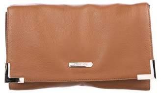 MICHAEL Michael Kors Grained Leather Flap Clutch