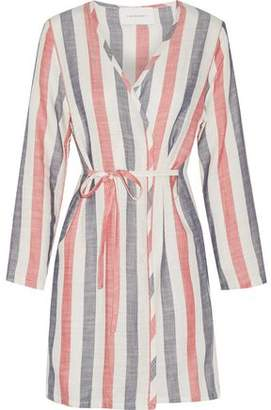 Solid & Striped The Erin Striped Cotton-Blend Gauze Robe