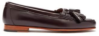 Hereu - Sierre Tassel Leather Loafers - Womens - Dark Brown