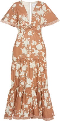 Johanna Ortiz Tea House Floral Cotton Dress
