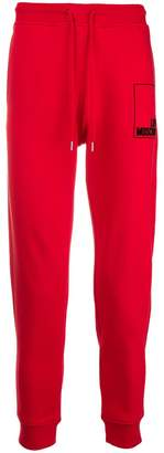 Love Moschino logo drawstring track trousers
