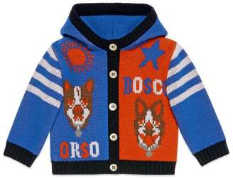 Gucci Baby Bosco and Orso wool cardigan
