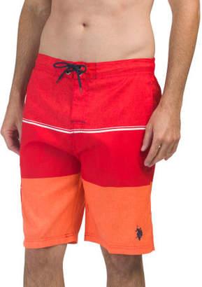Textured Print Swim Shorts