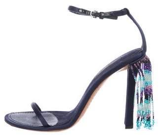 Louis Vuitton Satin High-Heel Sandals