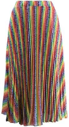 MICHAEL Michael Kors Rainbow pleated midi skirt