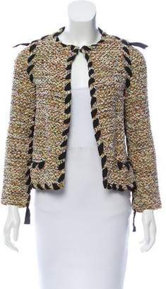 Lanvin Lace-Up Tweed Jacket