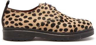 Joseph - Leopard Printed Calf Hair Derby Shoes - Womens - Black Tan