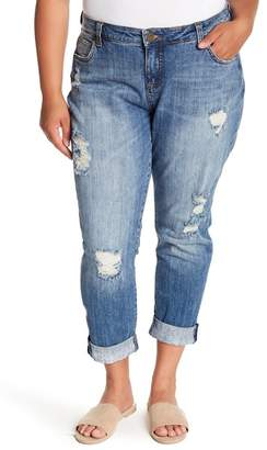 KUT from the Kloth Catherine Distressed Boyfriend Jeans (Plus Size)