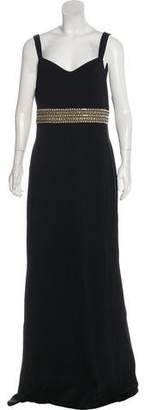 St. John Sleeveless Evening Dress