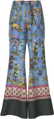 For Restless Sleepers Dioscuri Flared Printed Silk Pants