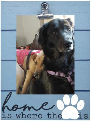 """New View Home"""" Paw Print 4"""" x 6"""" Photo Clip Frame"""