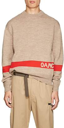 Oamc Men's Logo-Knit Wool-Blend Sweater
