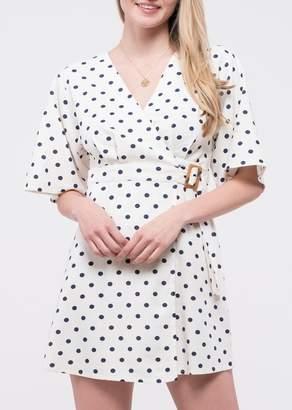 Blu Pepper Polka Dot Belted Wrap Dress