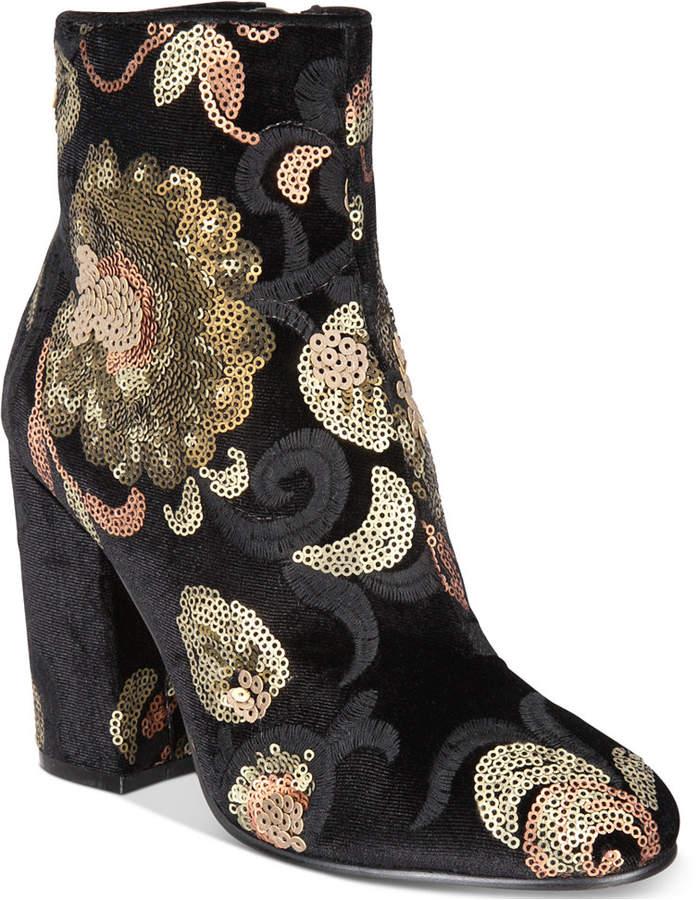 Aldo Fiery Brocade Booties Women's Shoes