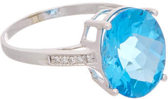 Effy Fine Jewelry 14K 5.99 Ct. Tw. Diamond & Blue Topaz Ring