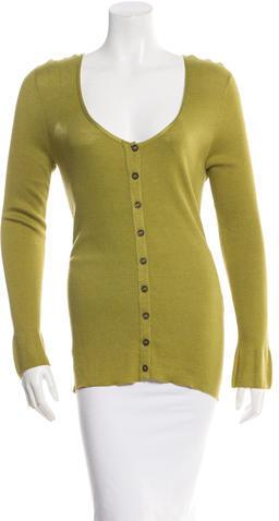 Hermès Long Sleeve Rib Knit Top