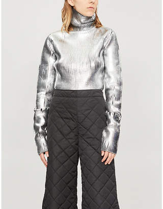 MM6 MAISON MARGIELA Turtleneck metallic knitted jumper