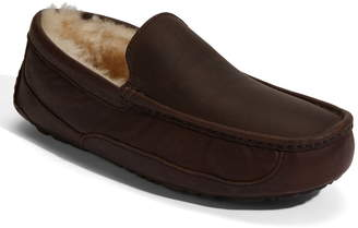8201d43b276b Mens Ugg Leather Slippers - ShopStyle