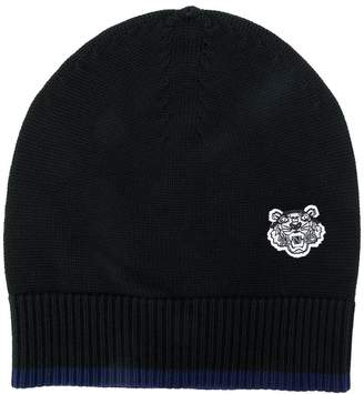 Kenzo embroidered tiger beanie hat