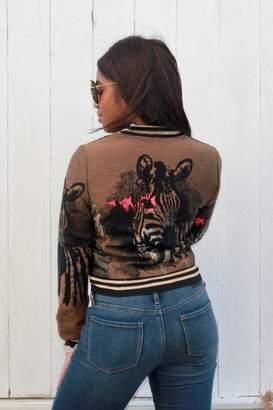 Alberto Makali Embroidered Bomber Jacket