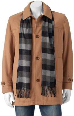 London Fog Tower By Men's Tower by Wool-Blend Top Coat