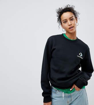 Converse Exclusive To ASOS Sweatshirt In Black With Neon Logo