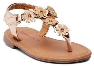 Laura Ashley Glitter Floral Applique Sandal (Toddler)
