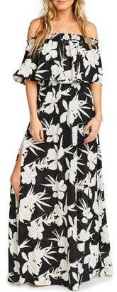 Women's Show Me Your Mumu Hacienda Convertible Off The Shoulder A-Line Gown $172 thestylecure.com