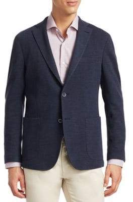 Saks Fifth Avenue COLLECTION Knitted Wool Blazer