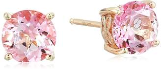 Swarovski Amazon Collection Women's Rose Gold Plated Sterling Silver Natural Baby Topaz Stud Earrings
