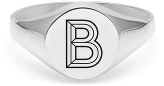 Myia Bonner Silver B Facett Initial Signet Ring