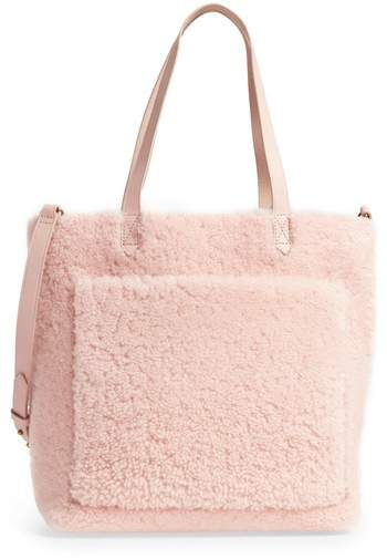Madewell Medium Transport Genuine Shearling Tote